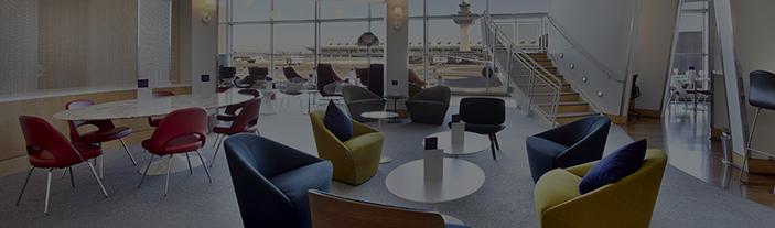 Virgin Atlantic lounge view