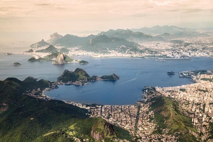 brazil beach aerial view