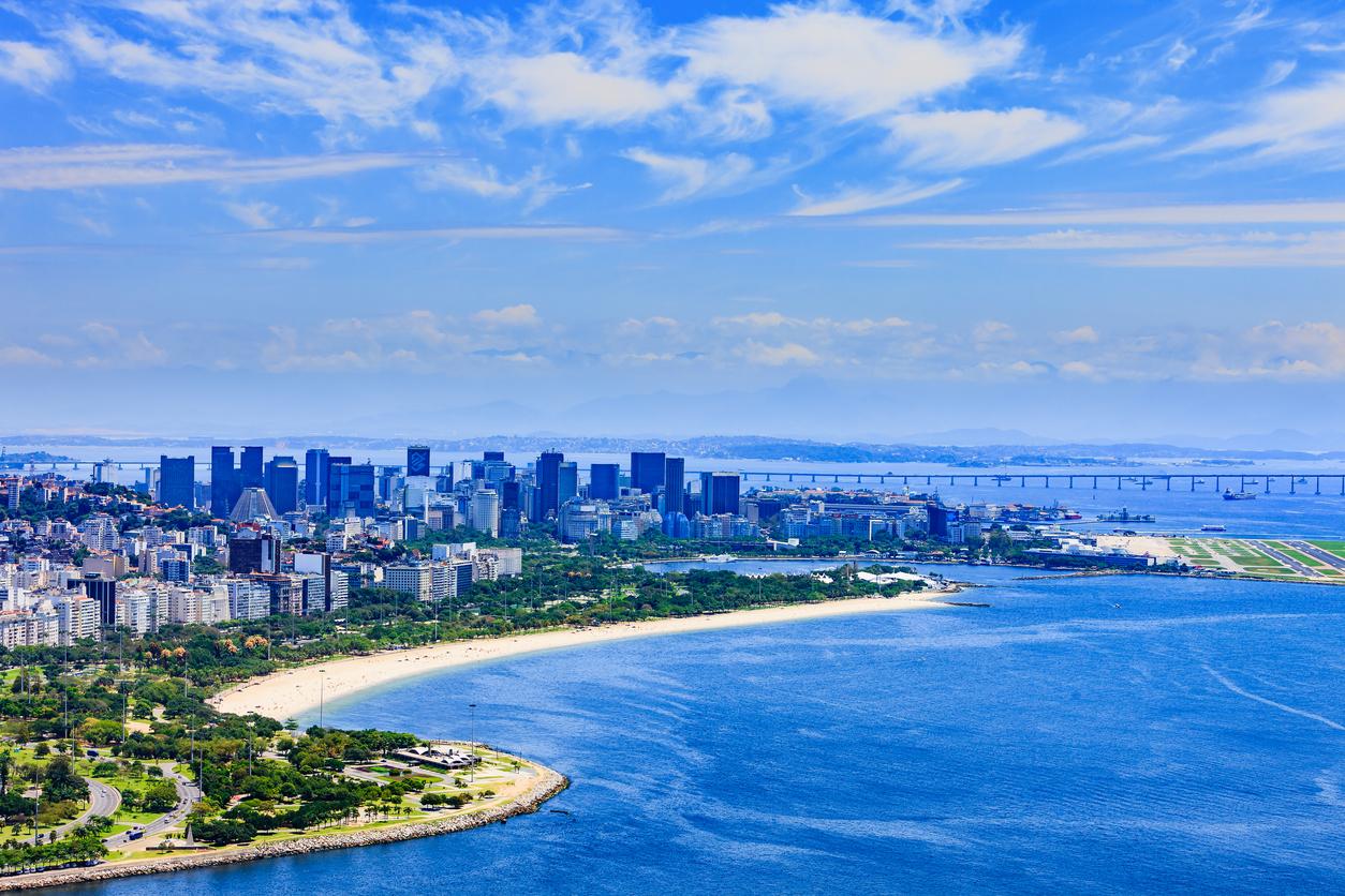 aerial view of brazillian beach
