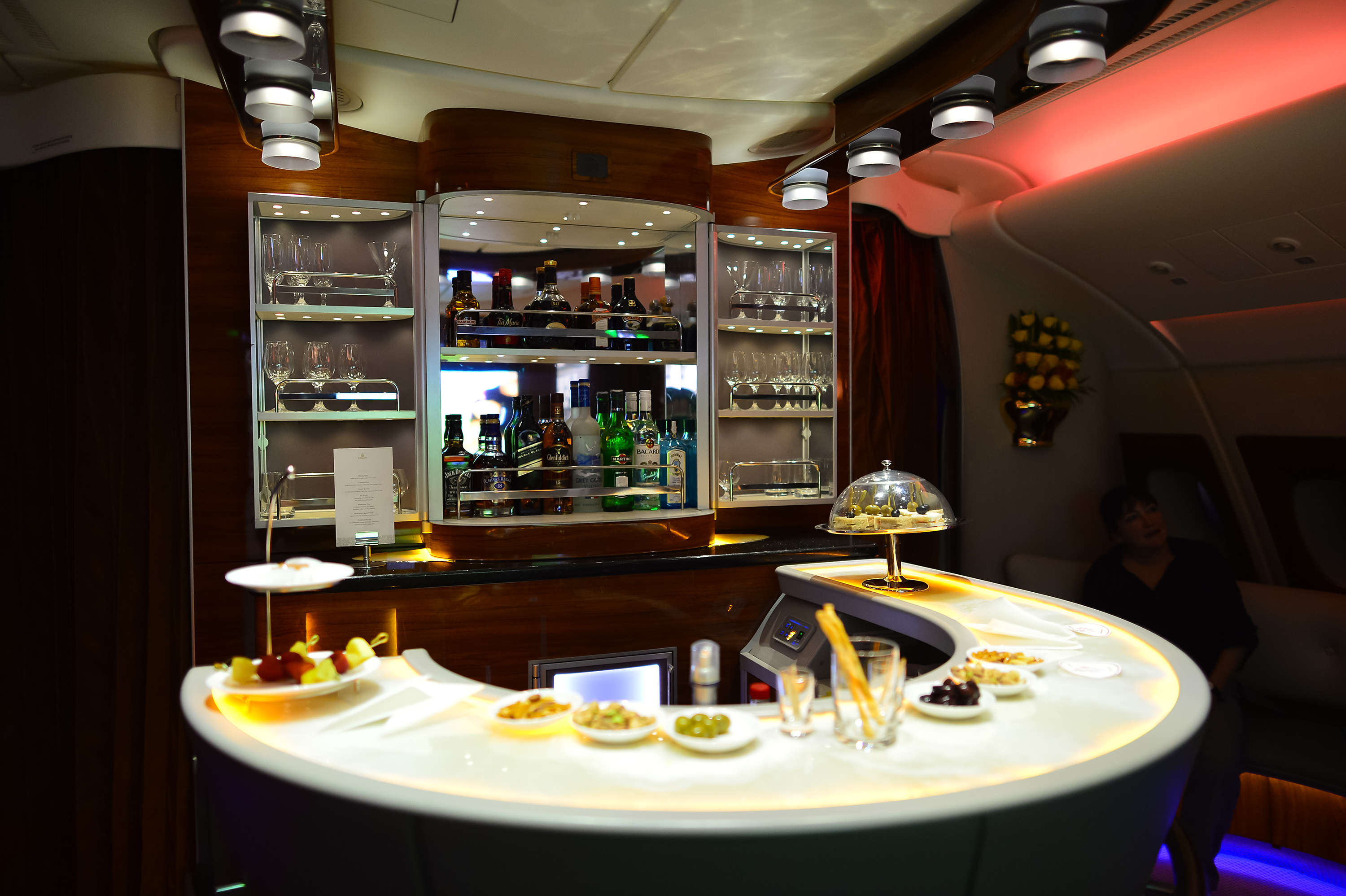 United Emirates Airbus A380 Business Class Bar