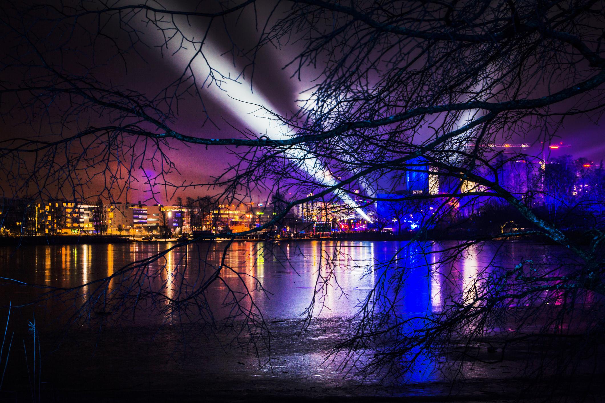 New Year in Helsinki : Stock Photo