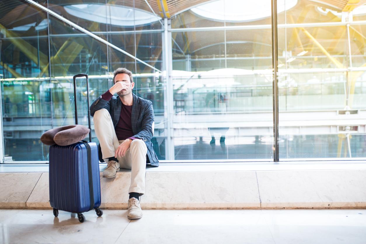 Stressed Airport Traveler - Priority Pass