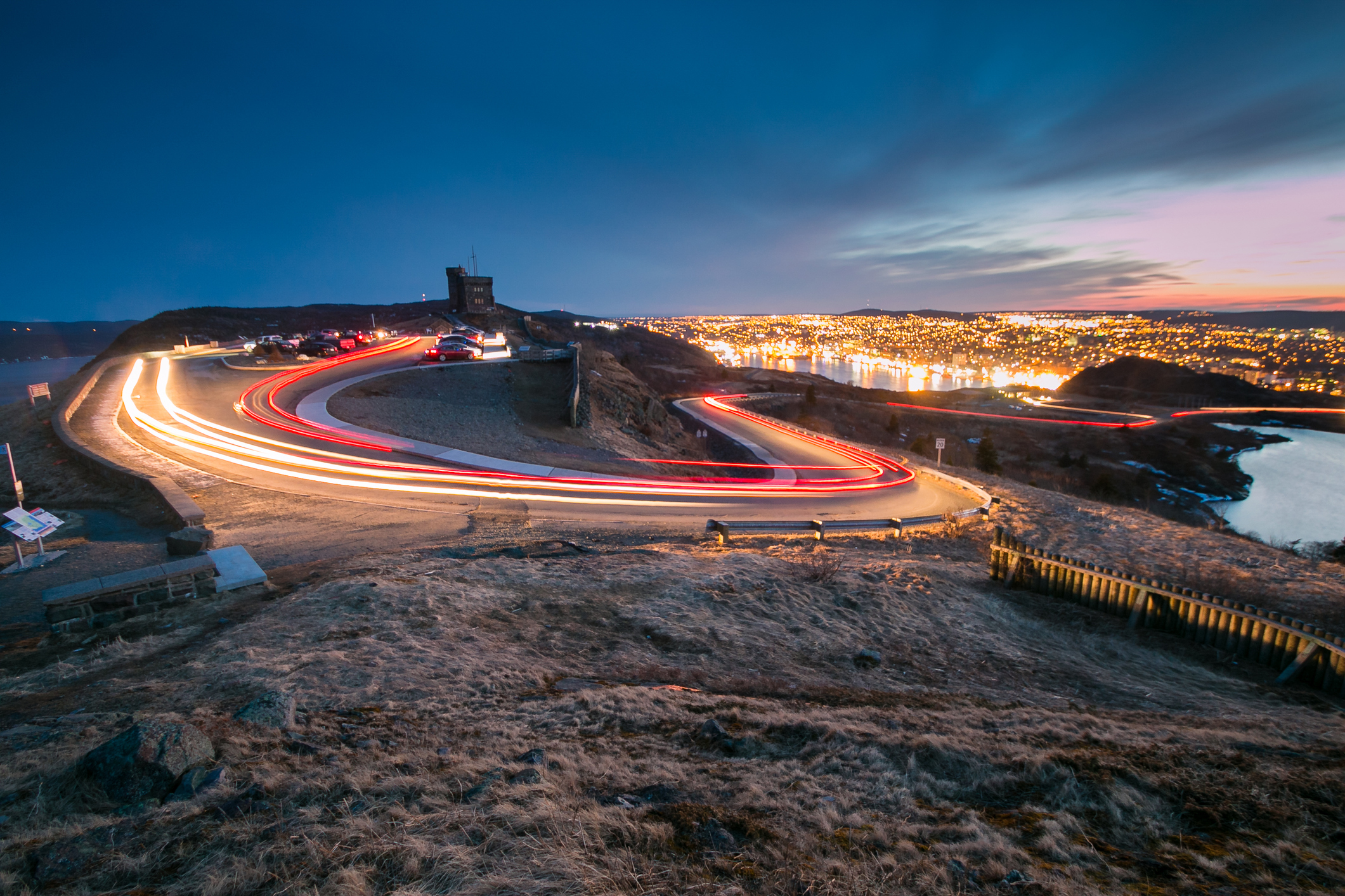 twilight at Signal Hill : Stock Photo