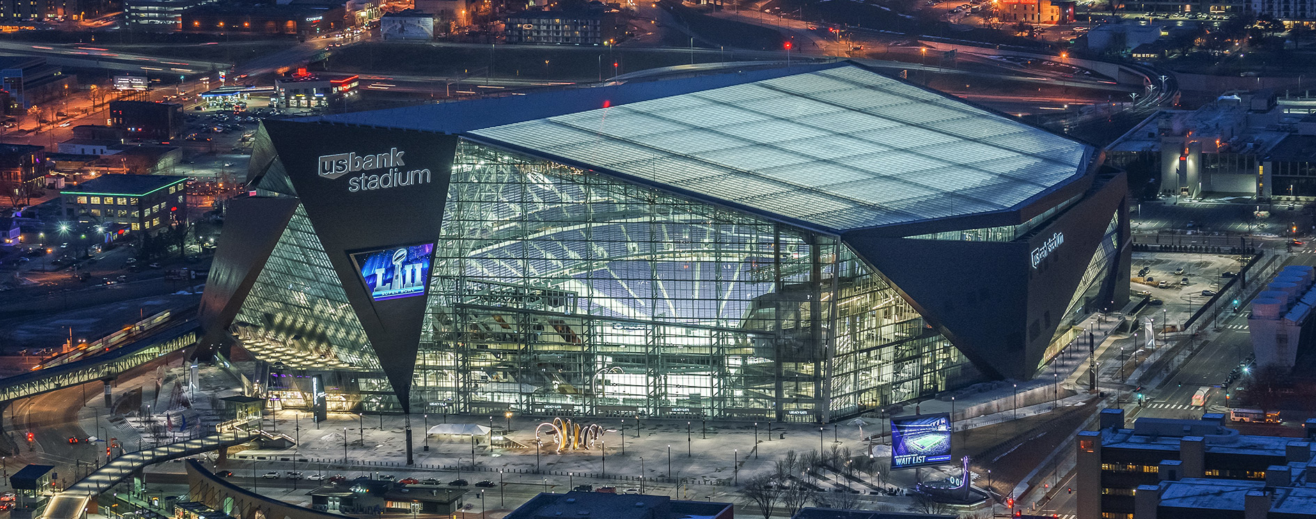 US Bank Stadium. Originally shown on the US BANK website