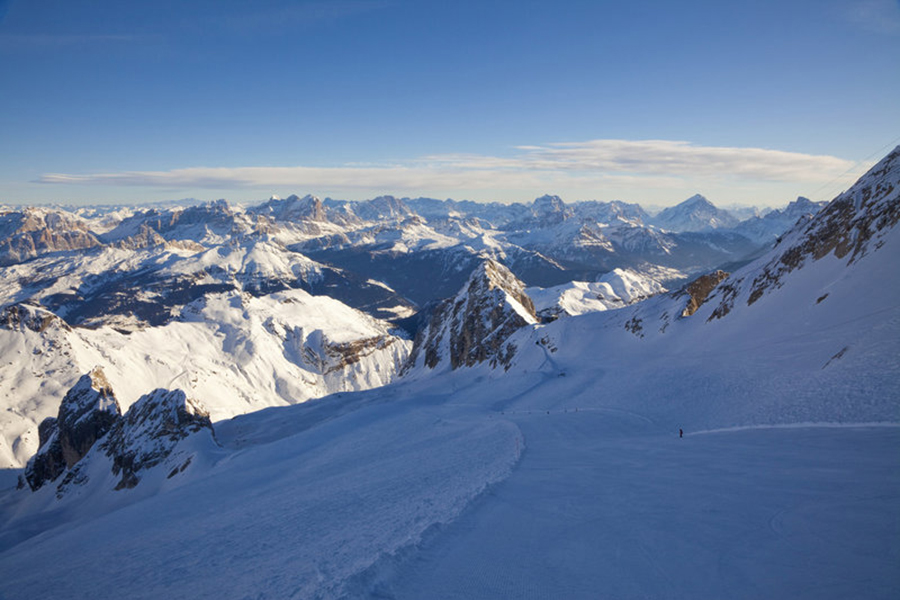 The Dolomites provide one of the best views whilst skiing.