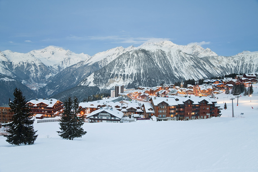 Mingle with celebrities at the luxurious Courchevel 1850 resort.