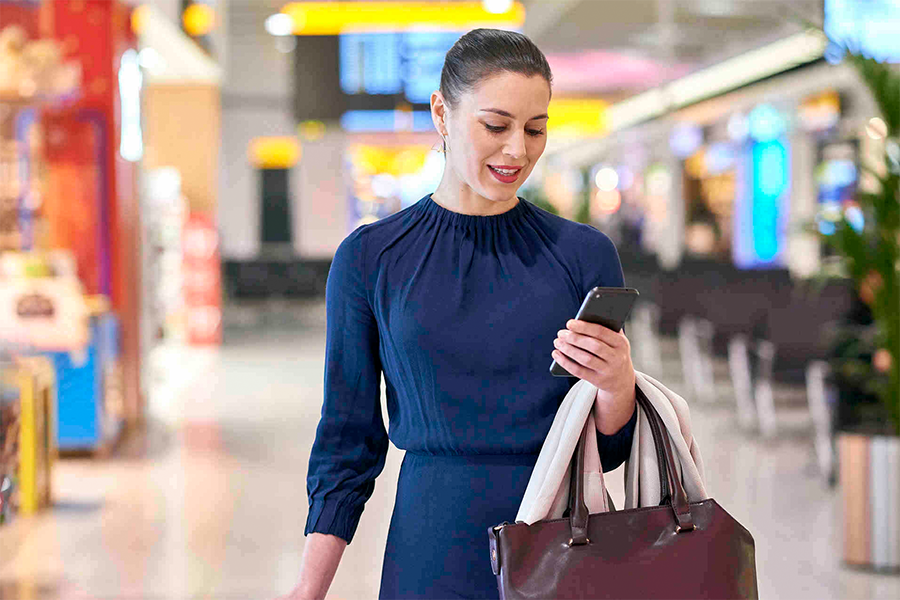 Navigate the airport terminal with ease via the Priority Pass app