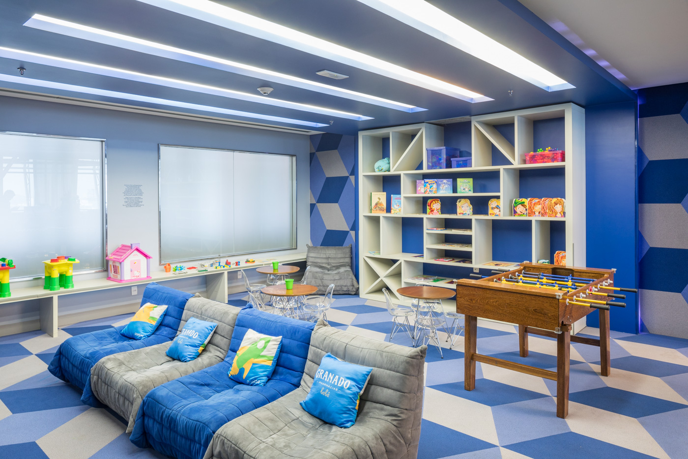 The Children's area at Aeroportos VIP Club is fun and ultra-modern