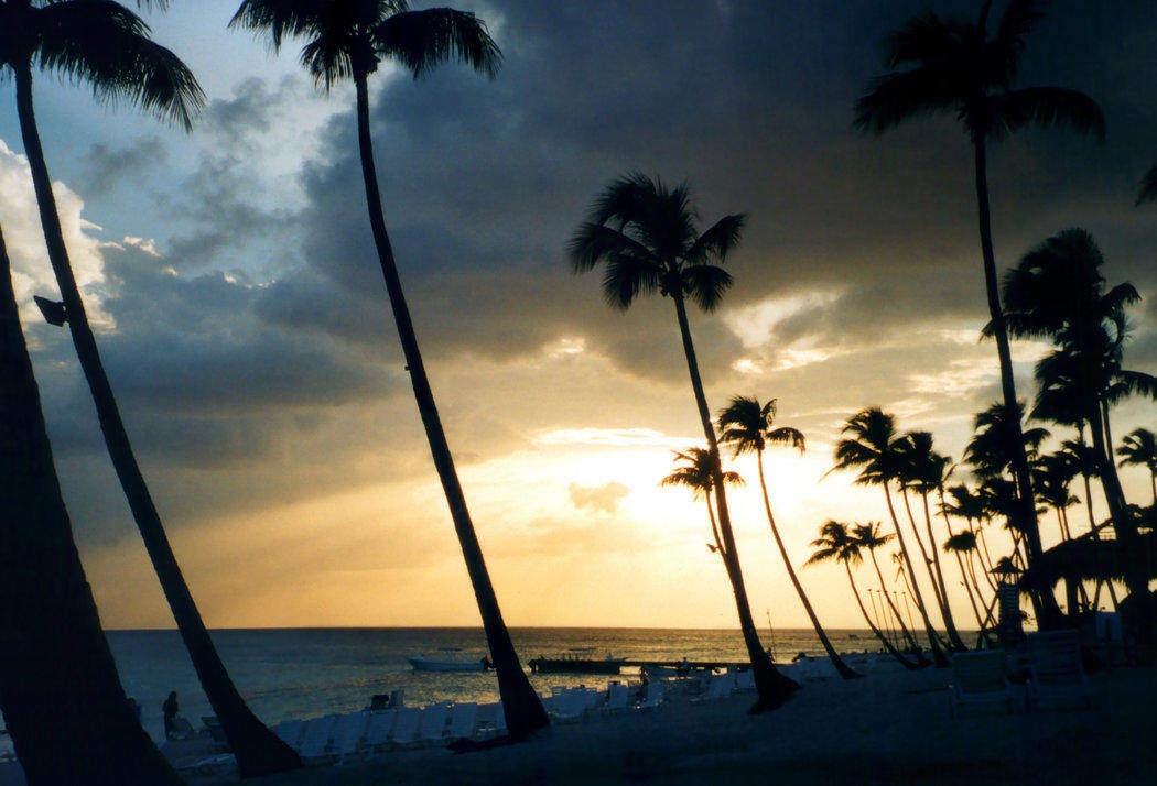The sunset at Bayahibe, Dominican Republic is not to be missed if you're visiting.