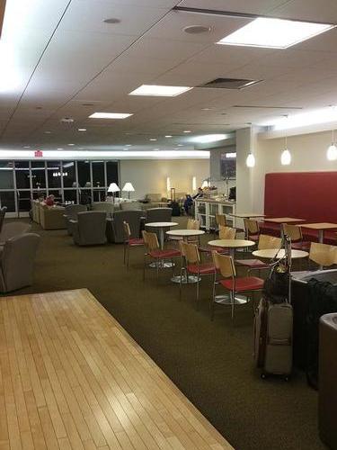 bar area - air france lounge boston logan
