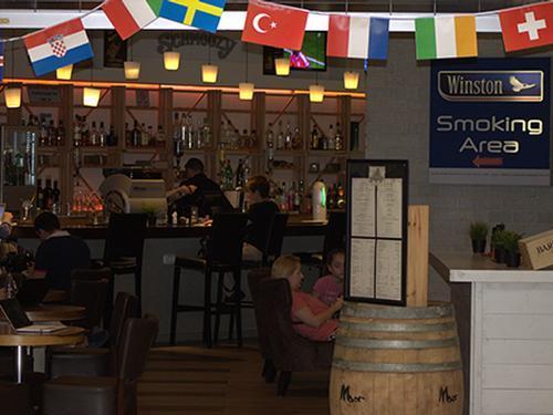 Schmoozy Bar. Tel Aviv Intl, Israel