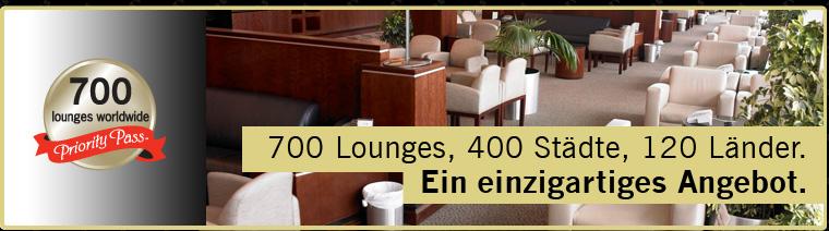 700 Lounges, 400 Städte, 120 Länder. Ein einzigartiges Angebot.