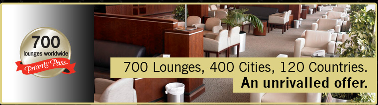700 Lounges, 400 Cities, 120 Countries. An unrivalled offer.