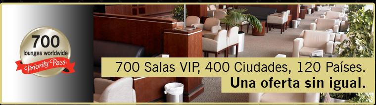 700 Salas VIP, 400 Ciudades, 120 Países. Una oferta sin igual.