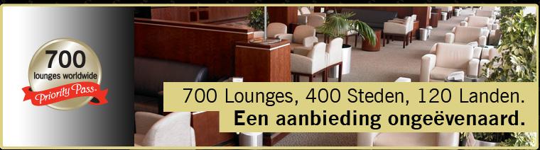 700 Lounges, 400 Steden, 120 Landen. Een aanbieding ongeëvenaard.
